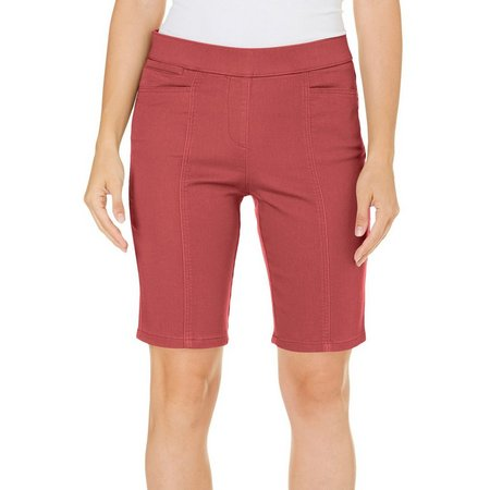 Coral Bay Womens Pull-On Stretch Solid Shorts