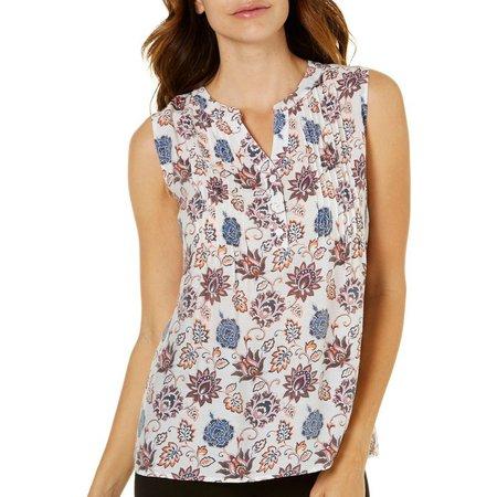 Coral Bay Womens Printed Sleeveless Top