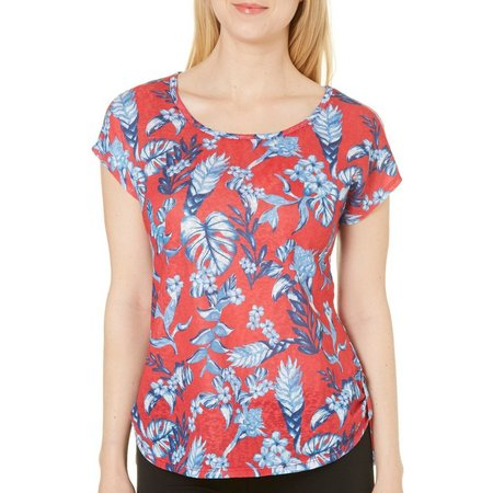 Coral Bay Womens Floral High-Low Top