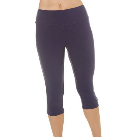 Coral Bay Womens Solid Pull On Capris