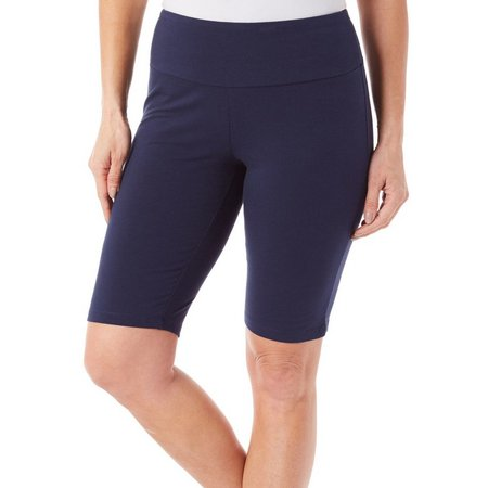 Coral Bay Womens Solid Elastic Waist Short