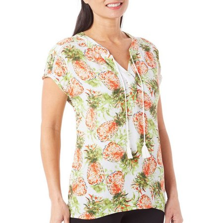 Coral Bay Womens Havana Pineapple High-Low Top