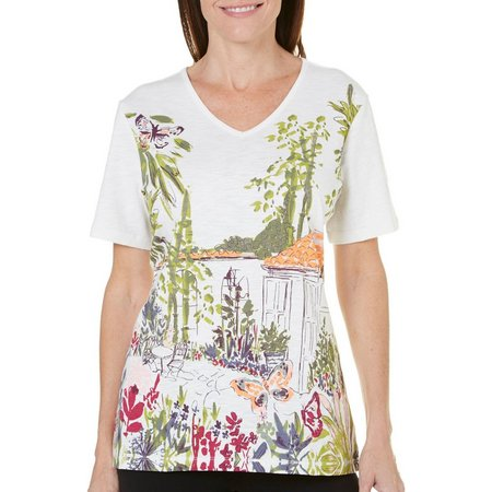 Coral Bay Womens Precious Oddities Garden Top