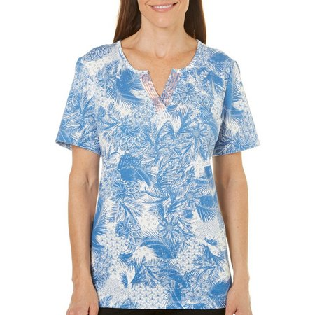 Coral Bay Womens With Love Palm Top