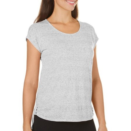 Coral Bay With Love Womens Textured Tab Side