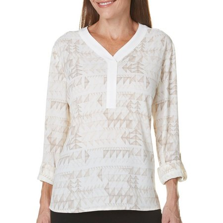 Coral Bay Womens Natural Coast Geo Triangle Top