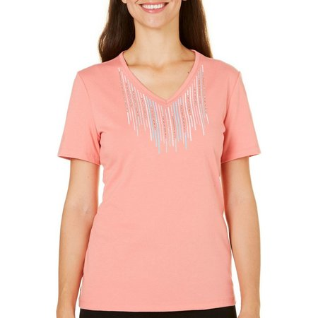 Coral Bay Womens Natural Coast Embroidery Top