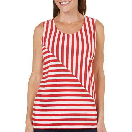 Coral Bay Womens Stars And Stripes Stripe Tank