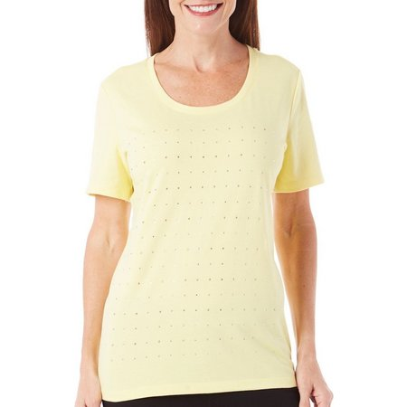 Coral Bay Womens Natural Coast Embellished Top