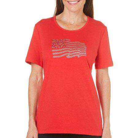 Coral Bay Womens Stars And Stripes Solid Flag