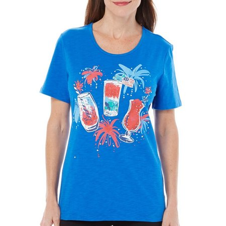 Coral Bay Womens Stars And Stripes Drinks Top