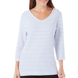 Coral Bay Womens Yacht Club Stripe Texture Top