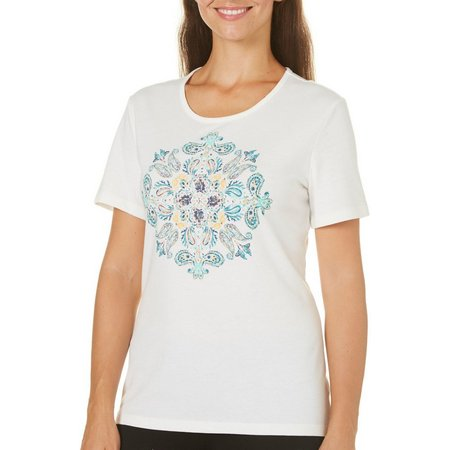 Coral Bay Womens With Love Paisley Print Top