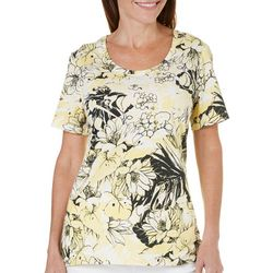 Coral Bay Womens Yacht Club Allover Floral Top