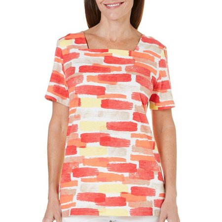 Coral Bay Womens Yacht Club Geo Print Top