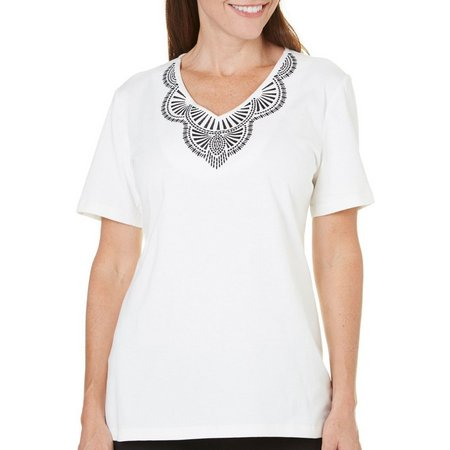Coral Bay Womens Yacht Club Embroidered Top