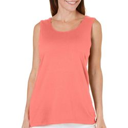 Coral Bay Womens Journey Solid Tank Top