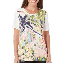 Coral Bay Womens St Augustine Scenic Print Top