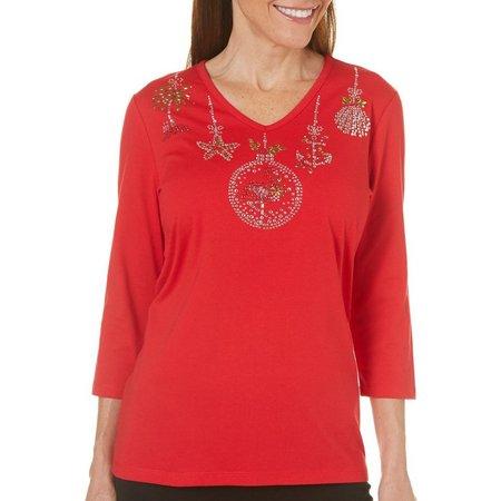 Coral Bay Womens Forever Sanibel Ornament Top