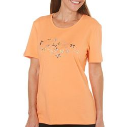 Coral Bay Womens St Augustine Solid Butterfly Top