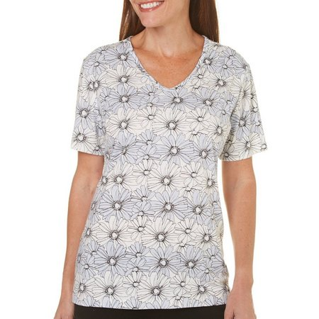 Coral Bay Womens St Augustine Allover Floral Top