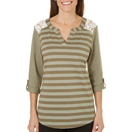 Coral Bay Womens Forever Sanibel Striped Top