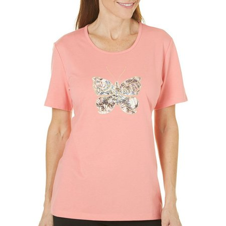 Coral Bay Womens Ocean Drive Butterfly Top