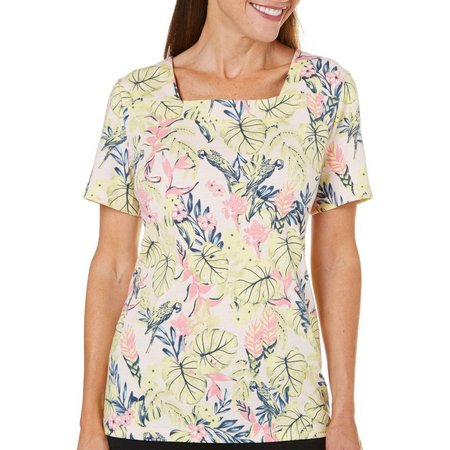 Coral Bay Womens Ocean Drive Parrot & Leaf