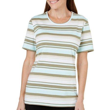 Coral Bay Womens Havana Stripe Print Top