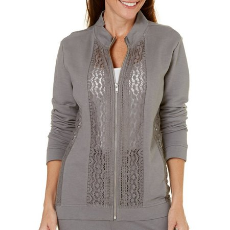 Coral Bay Womens Lace Panel Jacket
