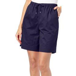 Coral Bay Womens Twill Drawstring Shorts
