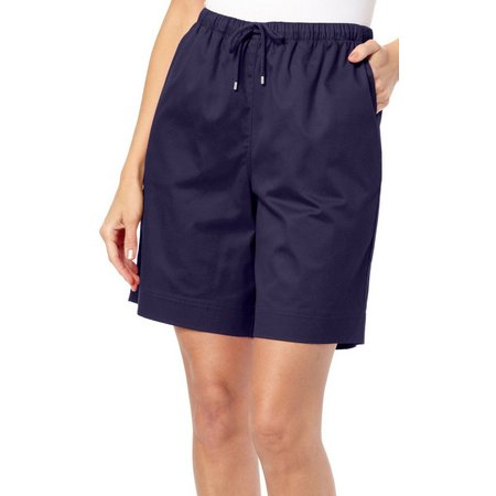 Coral Bay Womens Twill Drawstring Shorts