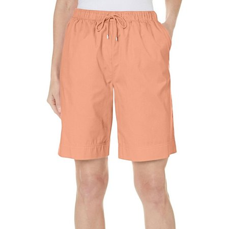Coral Bay Womens Forever Sanibel Drawstring Shorts