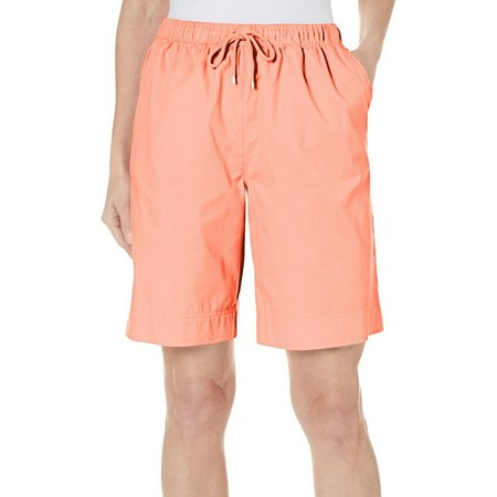 Coral Bay Womens Natural Coast Drawstring Shorts