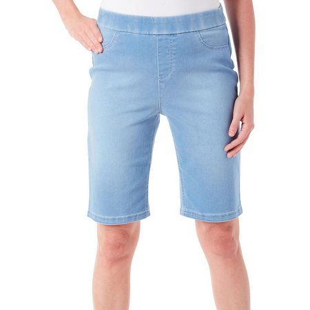 Erika Womens Denim Bermunda Shorts