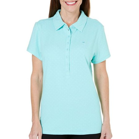 New! Gloria Vanderbilt Womens Annie Dot Polo Shirt