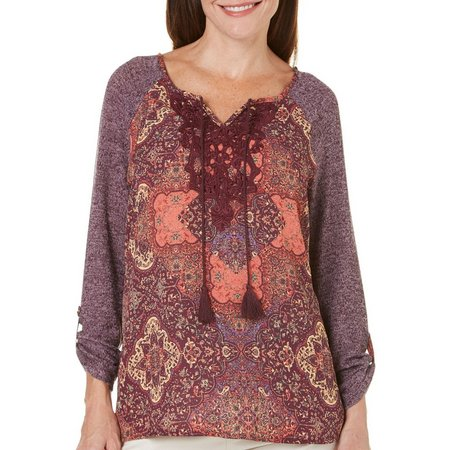 Gloria Vanderbilt Womens Beverly Tie Sweater