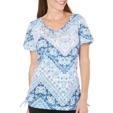 Gloria Vanderbilt Womens Margaret Flourish T-Shirt
