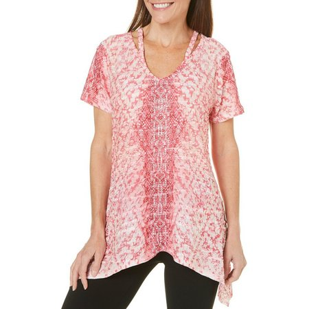 Gloria Vanderbilt Petite Gennie Cold Scat Top