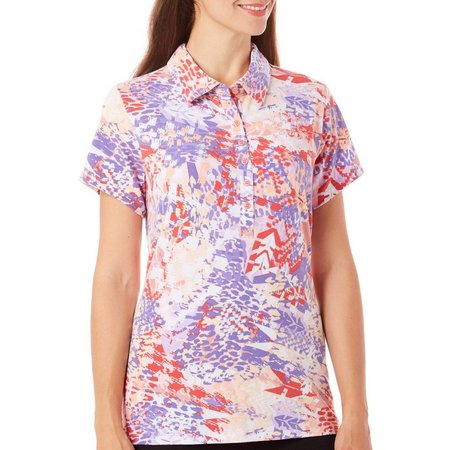 Gloria Vanderbilt Womens Annie Ink Polo Shirt
