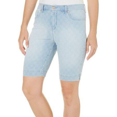 Gloria Vanderbilt Womens Amanda Dot Bermuda Shorts
