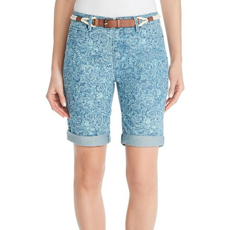 Gloria Vanderbilt Womens Joslyn Bermuda Shorts
