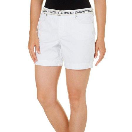 Gloria Vanderbilt Womens Belted Marisa Shorts
