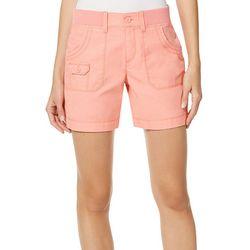 Gloria Vanderbilt Womens Petra Rib Shorts