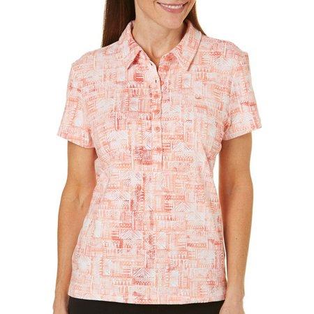 Gloria Vanderbilt Womens Annie Mayan Polo Shirt