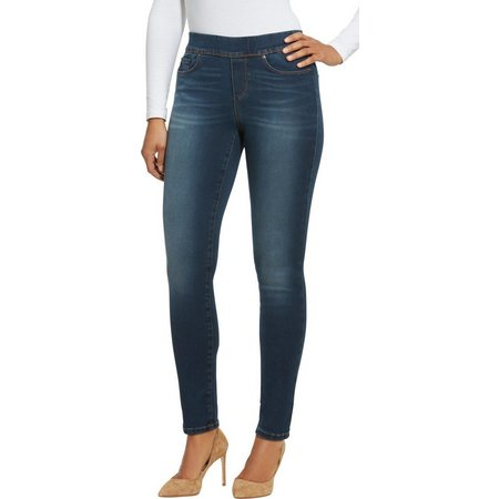 Gloria Vanderbilt Womens Avery Slim Pull-On Jeans
