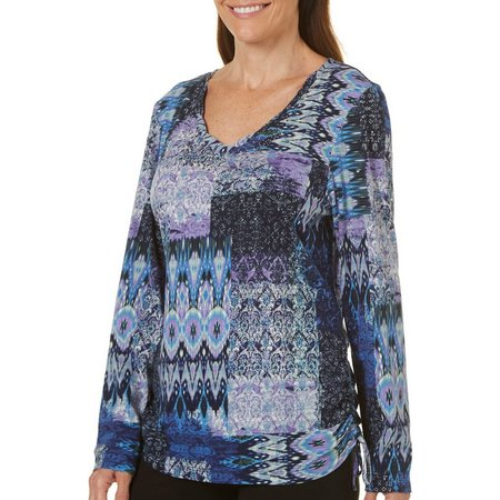 Gloria Vanderbilt Womens Jubilee Patchwork Top