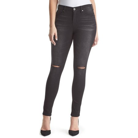 Gloria Vanderbilt Womens Distressed Skinny Jeans