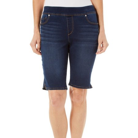 Gloria Vanderbilt Womens Avery Pull On Bermuda Shorts