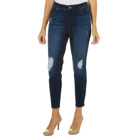 Gloria Vanderbilt Womens Alexandra Distressed Ankle Jeans